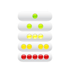 green red yellow balls for web vector image