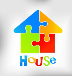 House Puzzle Logo vector image vector image