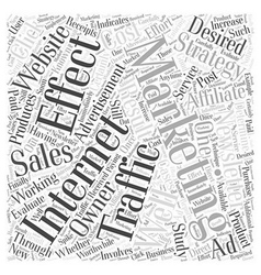 Is Internet Marketing Working For You Word Cloud vector image vector image