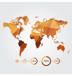 modern concept of world map with infographic vector image vector image