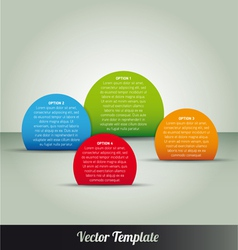 Options tab page template vector