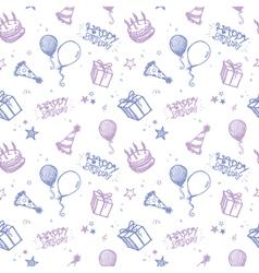seamless birthday wallpaper vector image vector image