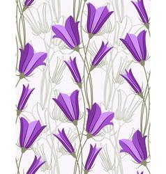 bluebells - seamless pattern vector image