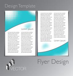 Flyer Design vector image vector image