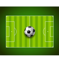 Football field with ball background design vector image vector image