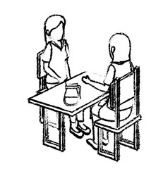 Group of people sitting vector