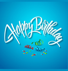 happy birthday card typography vector image
