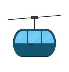 Sky cable car transport mountain vector