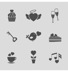Valentines day icons vector image