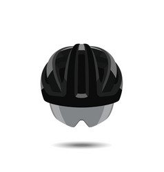 bicycle helmet on a white background vector image