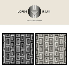 brand element and patterns vector image vector image