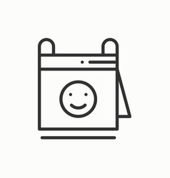 Calendar line icon reminder party time date vector