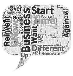 How to Reinvent Your Business in Easy Steps text vector image vector image