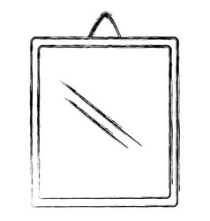mirror hanging isolated icon vector image