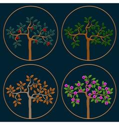 Seasonal trees vector image vector image