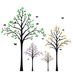 Tree Wall Decal vector image vector image
