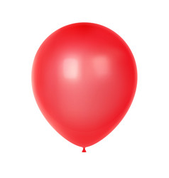 3d realistic colorful balloon birthday balloon vector image