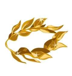 A gold laurel wreath award vector