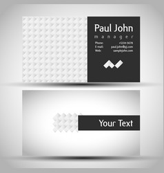 abstract business-card front and back vector image