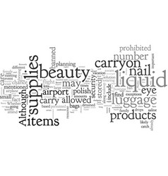 Are your beauty supplies banned vector