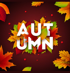 Autumn with falling leaves vector
