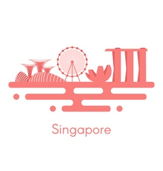 Background panorama of Singapore vector