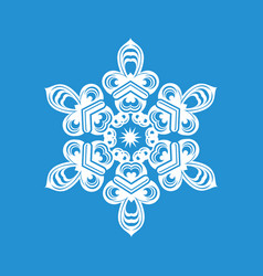 beautiful snowflake icon simple style vector image