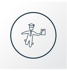 best student icon line symbol premium quality vector image