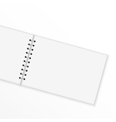 Blank notebook with blank place for text and notes vector image