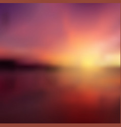 blurred sunrise seascape vector image