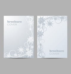 brochure template layout design beautiful winter vector image