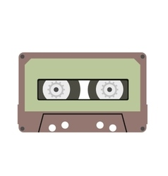 Cassette flat icon vector
