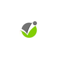 check letter v logo icon design vector image