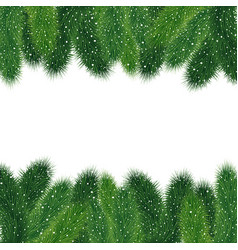 christmas fir tree borders vector image