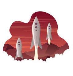 colonizing mars landing vector image
