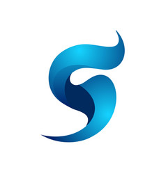 Colorful initial s with wave shape logo tem vector