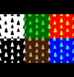 coniferous tree seamless pattern vector image