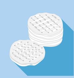 Cotton discs icon flat style vector