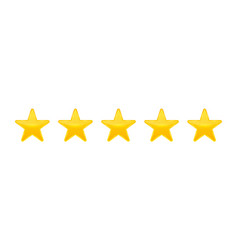 creative star rating vote vector image