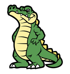 Crocodile cartoon character vector