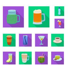 design of drink and bar sign set of drink vector image