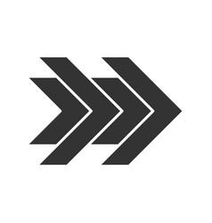 Double arrows glyph icon fast forward right vector
