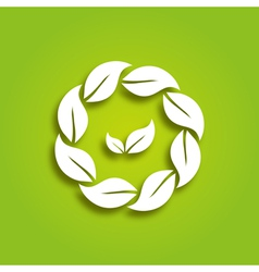eco paper leaves vector image