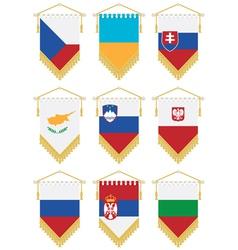 flag pennants vector image
