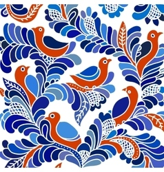 Floral design with birds vector image