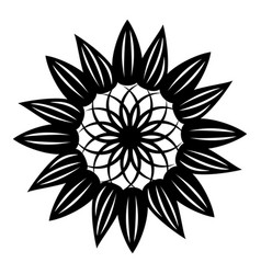 flower symbol icon simple style vector image