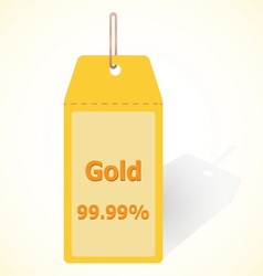 Gold 9999 quality tag vector image
