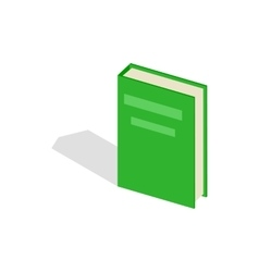 Green closed book icon isometric 3d style vector