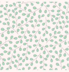 hand drawn floral seamless pattern with branches vector image