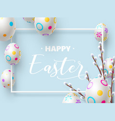happy easter holiday composition vector image